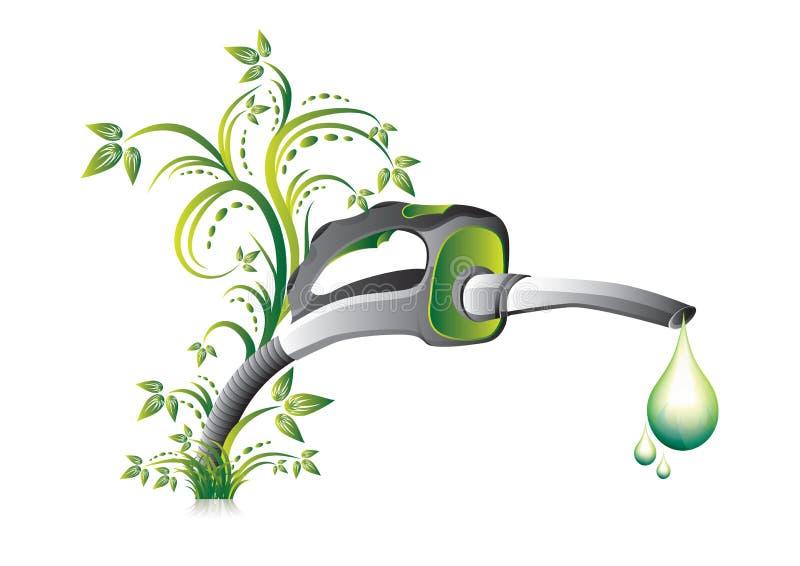 Bocal verde da bomba de combustível ilustração do vetor