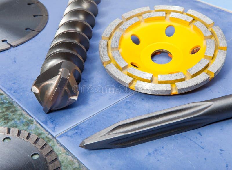 Bocas para la herramienta industrial eléctrica de la construcción foto de archivo libre de regalías