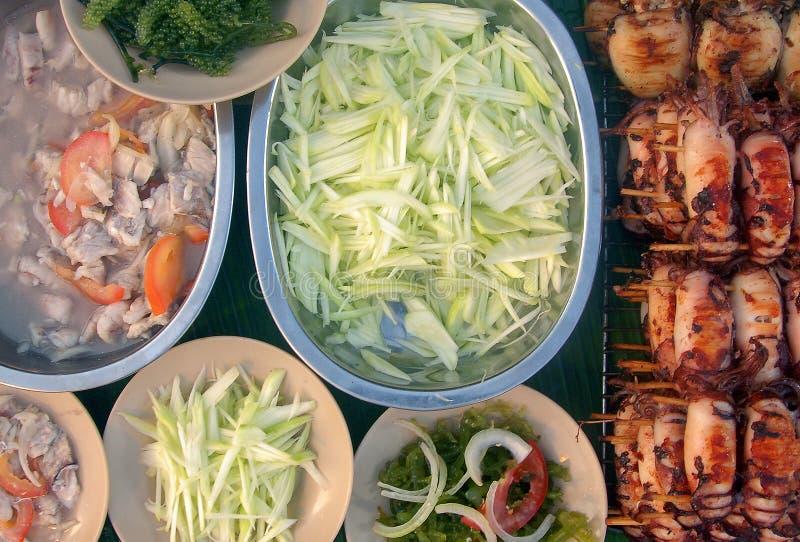 Bocca che innaffia piatto locale di Sabah immagini stock