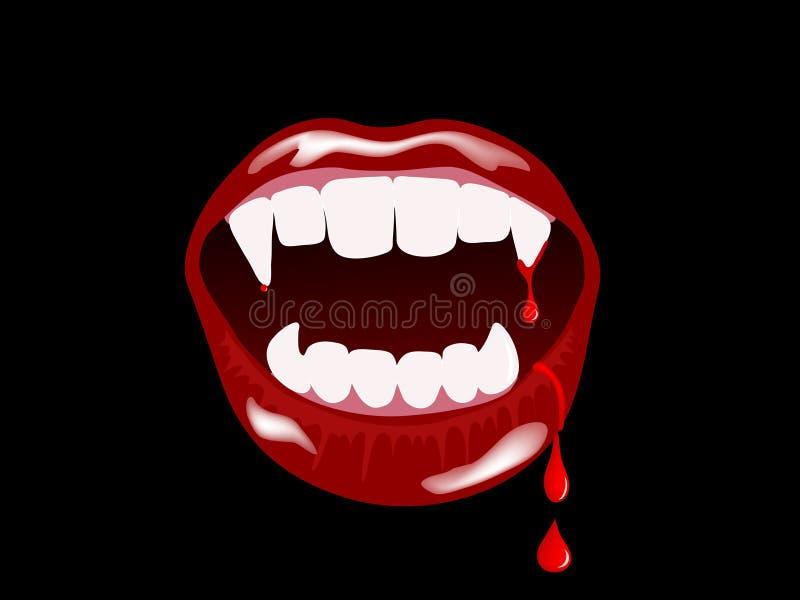 Bocca del vampiro royalty illustrazione gratis