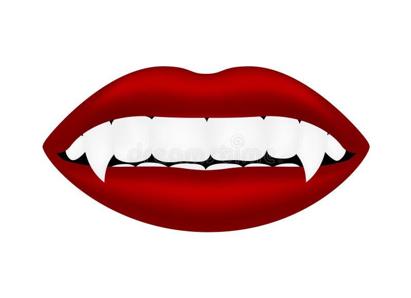 Bocca del vampiro illustrazione di stock