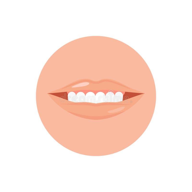 Bocca umana con il dente e l'illustrazione di vettore illustrazione vettoriale