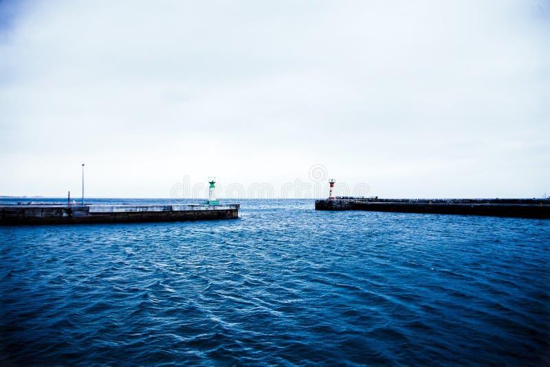 Bocca vuota del porto all'alba fotografia stock libera da diritti