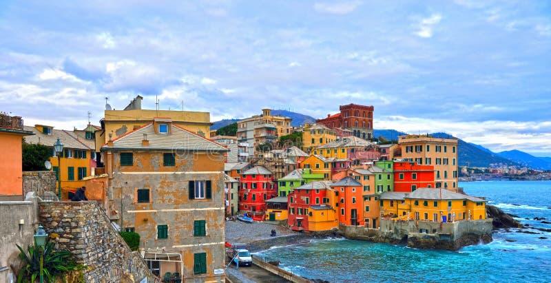 Boccadasse Γένοβα Ιταλία στοκ φωτογραφίες