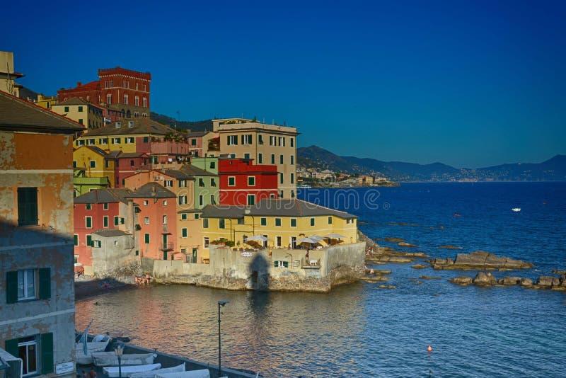 Boccadasse, Liguria, Genova, Italia immagini stock libere da diritti