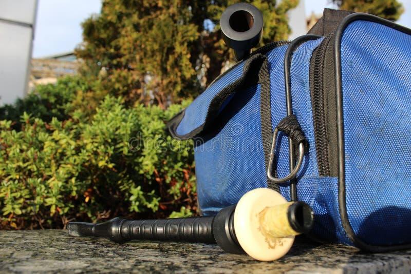 Boccaglio e Chanter delle cornamuse fotografia stock