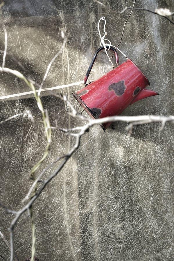 Boccale in pietra rosso fotografie stock libere da diritti