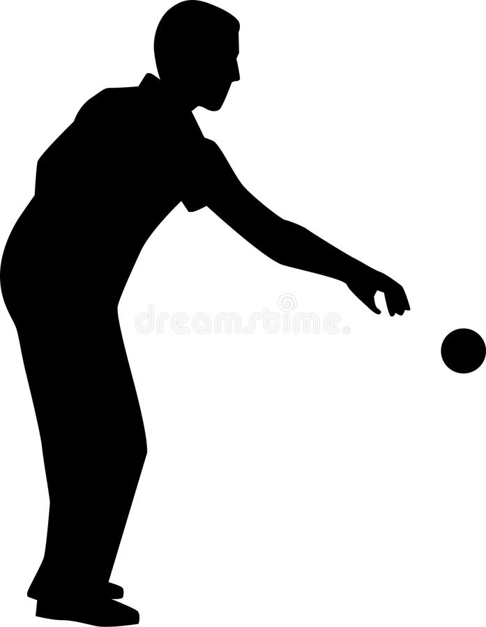 Free Bocce Player Silhouette Stock Image - 85846621