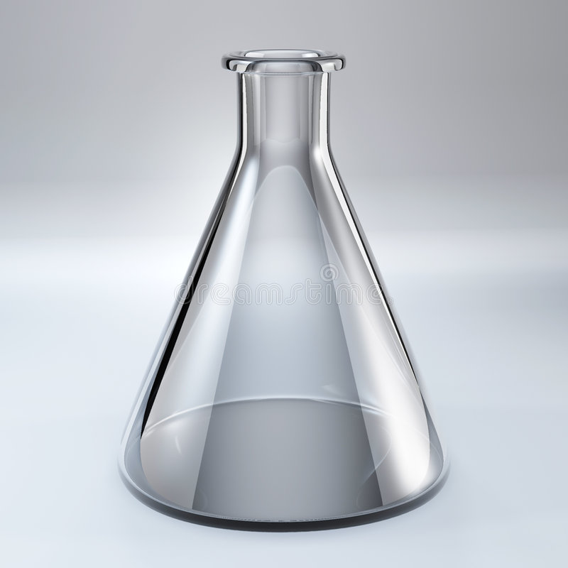 Boccetta chimica di vetro illustrazione vettoriale