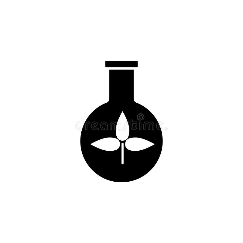 boccetta con la pianta, illustrazione eps10 di vettore dell'icona di eco royalty illustrazione gratis
