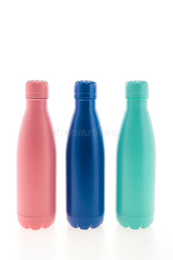 Boccetta e bottiglia di vuoto inossidabili immagini stock libere da diritti