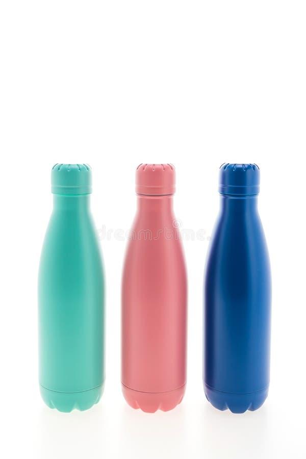 Boccetta e bottiglia di vuoto inossidabili fotografie stock libere da diritti