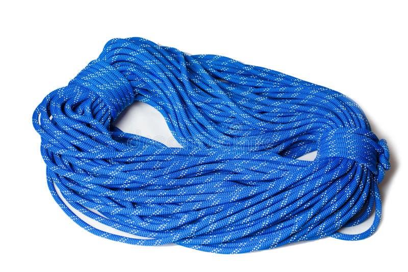 Bocht van dynamische kabel die in sport het beklimmen gebruiken royalty-vrije stock foto's