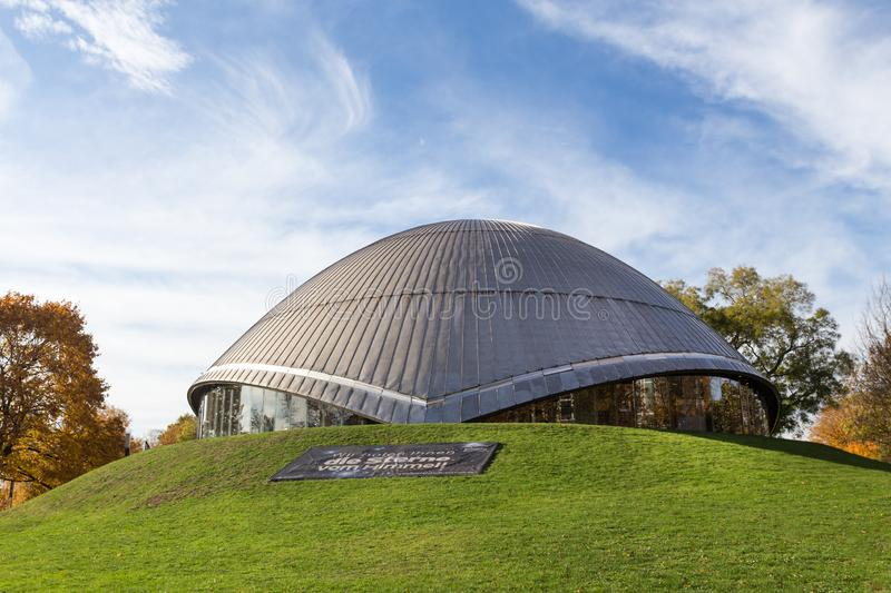 Bochum germany planetarium in autumn. The bochum germany planetarium in autumn royalty free stock photography