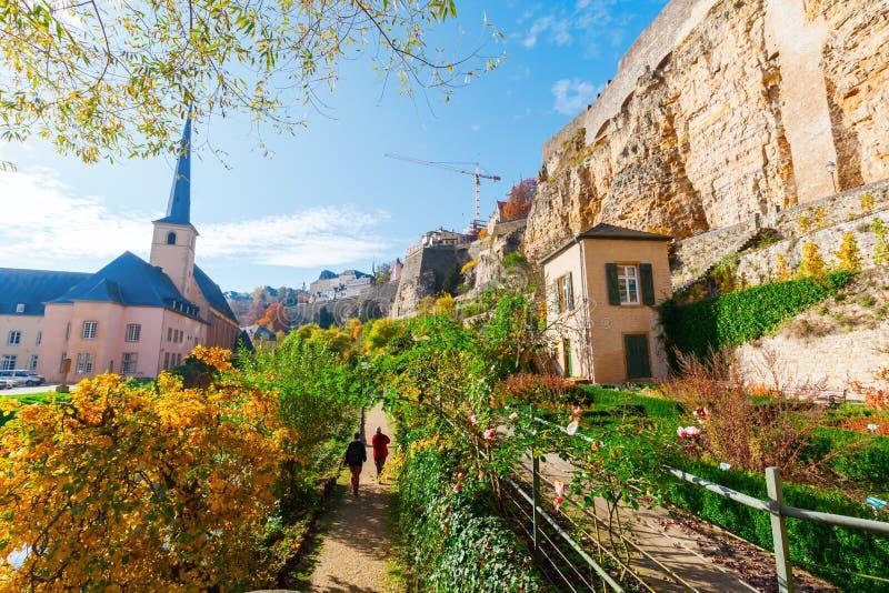 Bock faleza w Luksemburg mieście fotografia royalty free