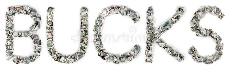 Bockar - krusade räkningar 100$ fotografering för bildbyråer