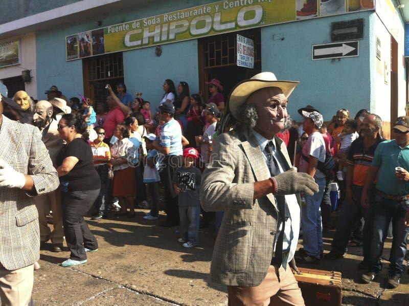 Carnival parade in Bocono, Venezuela. BOCONO, VENEZUELA - FEB 19TH 2012: Carnival parade in the town of Bocono, Venezuela royalty free stock photography