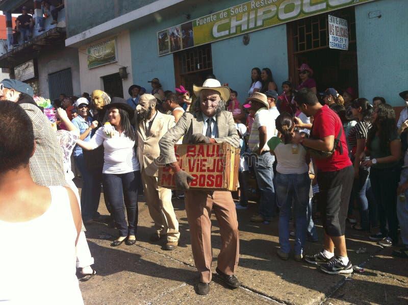 Carnival parade in Bocono, Venezuela. BOCONO, VENEZUELA - FEB 19TH 2012: Carnival parade in the town of Bocono, Venezuela stock photos