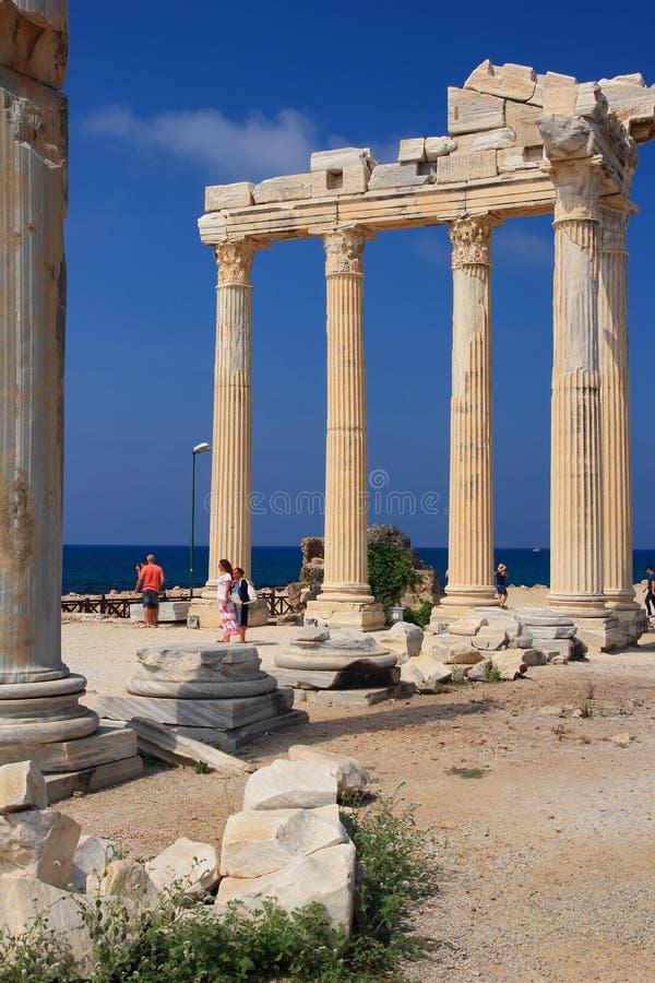 boczna Apollo świątynia indyk obraz royalty free