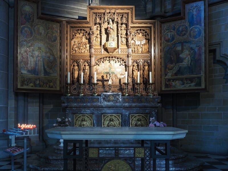 Boczna kaplica Nasz dama Thuyne, St Martin's katedra, Ypre zdjęcie royalty free
