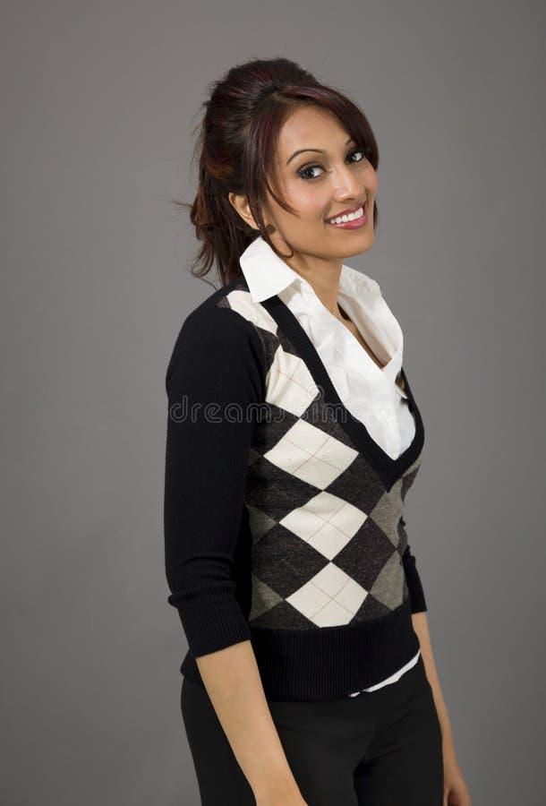 Download Boczny Profil Indiański Bizneswomanu Ono Uśmiecha Się Obraz Stock - Obraz złożonej z korporacyjny, formalny: 41950671