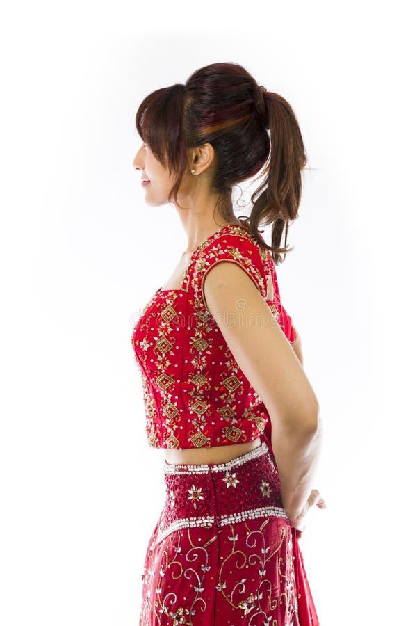 Download Boczny Profil Indiański Młoda Kobieta Dnia Marzyć Obraz Stock - Obraz złożonej z kolor, myśl: 41952247