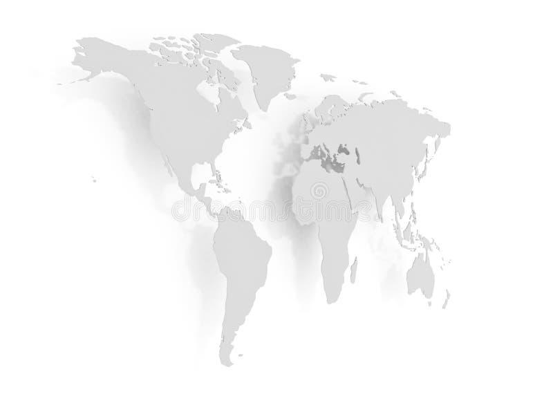 Boczny widok światowa mapa ilustracji