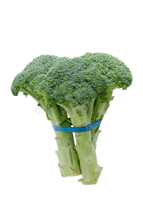 Boczny widok świezi brokuły obrazy stock