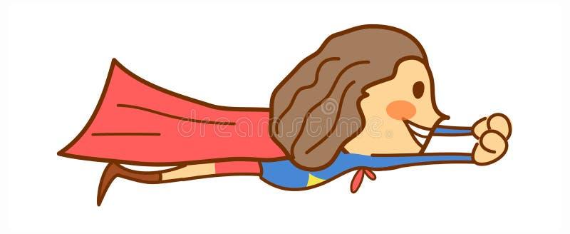 Boczny widok dziewczyna royalty ilustracja
