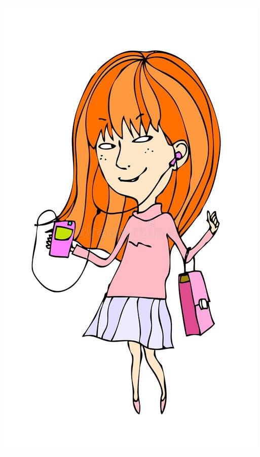 Download Boczny widok kobieta ilustracja wektor. Obraz złożonej z kolor - 34289140