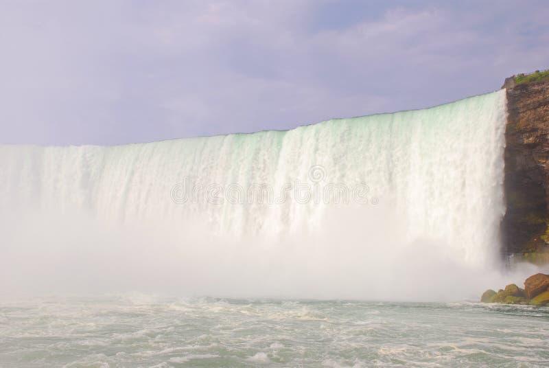 Boczny widok Niagara spadki fotografia stock