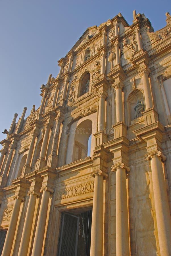 Boczny widok ruiny St Paul zdjęcia royalty free
