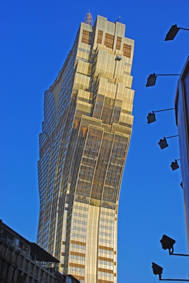 Boczny widok Uroczysty Lisboa hotel zdjęcia stock