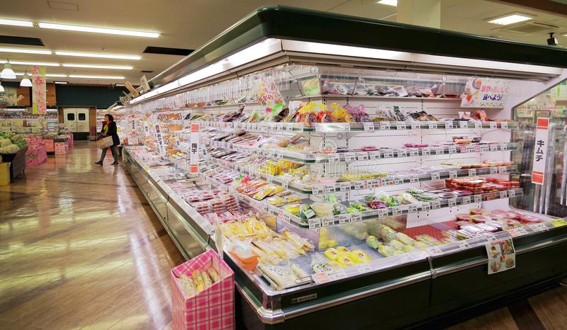 Bocznych naczyń sekcja Japonia supermarket i zalewy zdjęcia royalty free