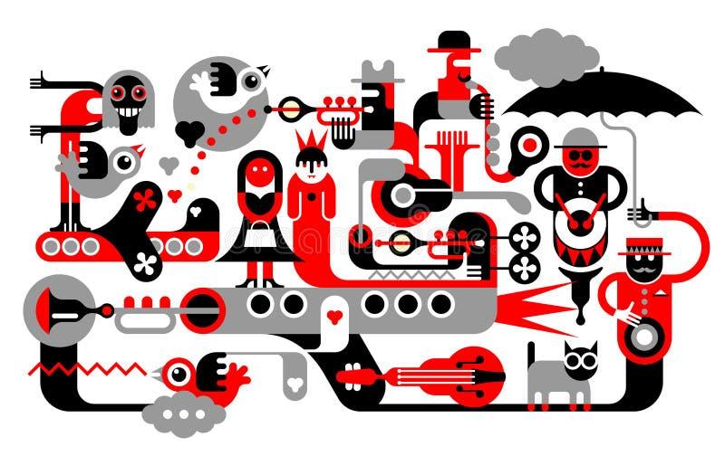 Boda libre illustration
