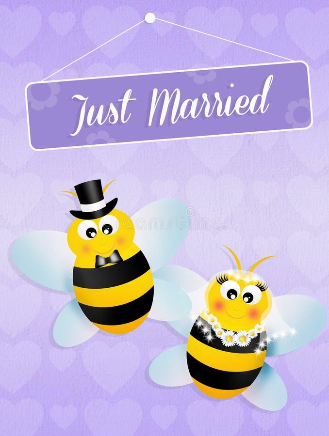 Boda de abejas stock de ilustración