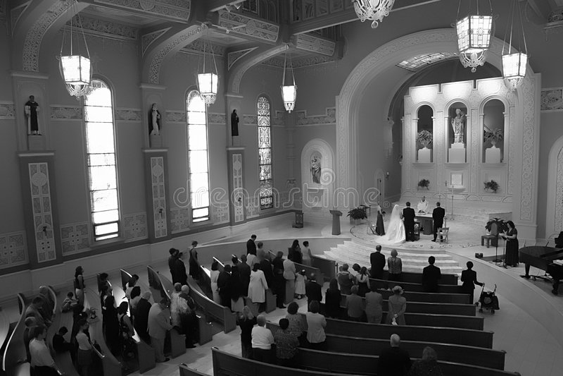 Boda de la iglesia fotografía de archivo