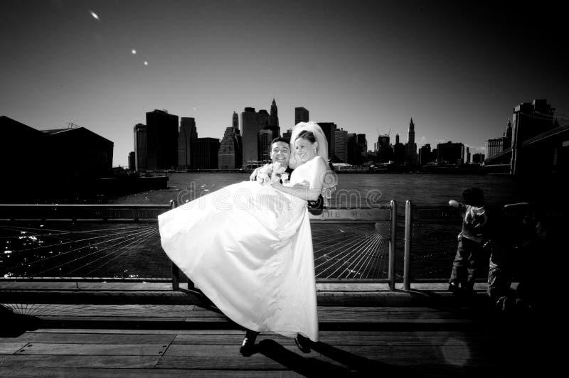 Boda de New York City imagenes de archivo