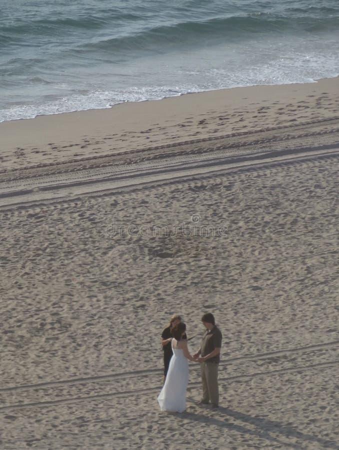 Boda de playa foto de archivo