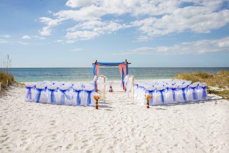 Boda de playa imagen de archivo