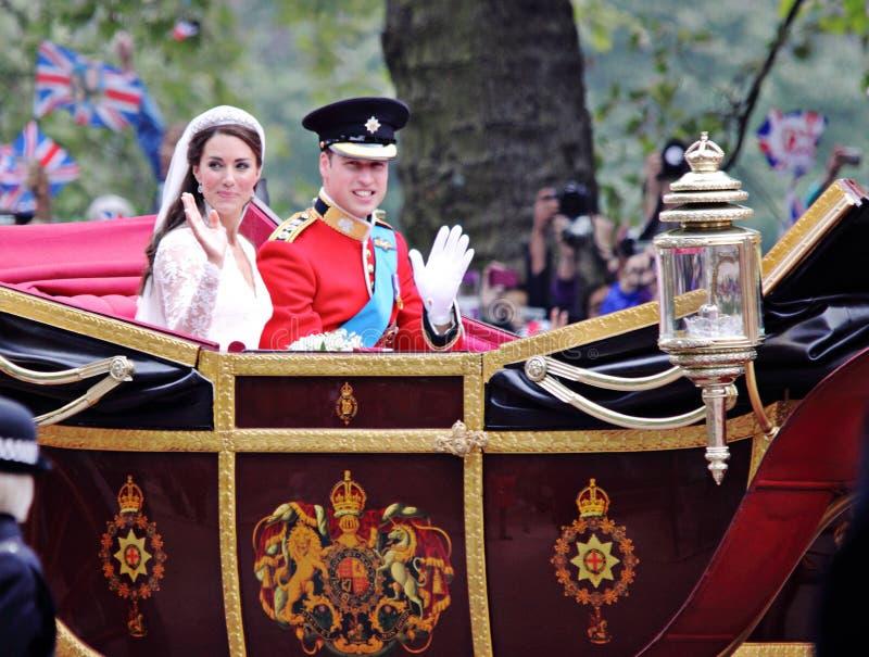 Boda de príncipe Guillermo y de Catherine foto de archivo libre de regalías