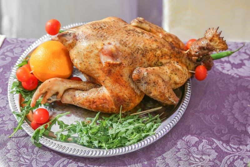 Boda del pollo de la gallina fotografía de archivo