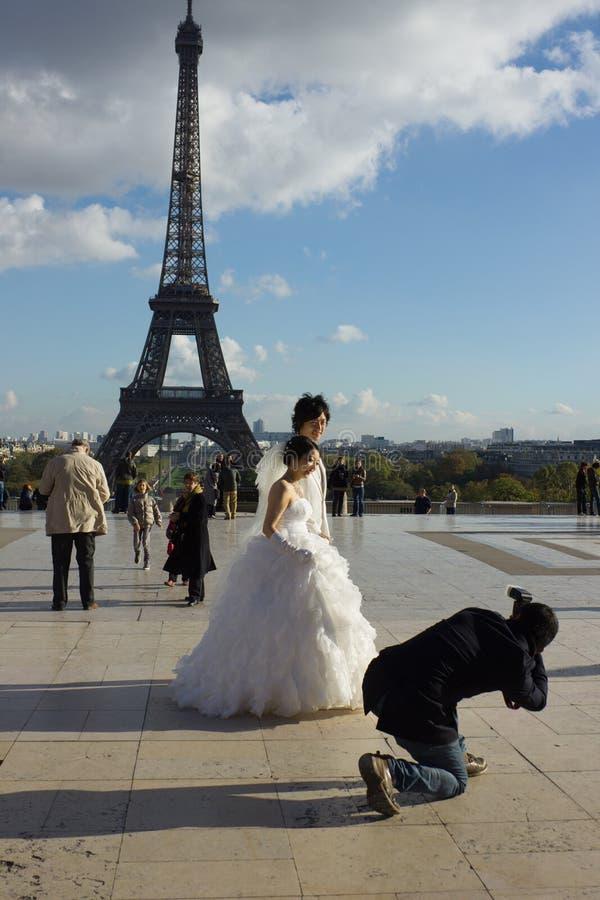 Boda del Shooting en París fotos de archivo