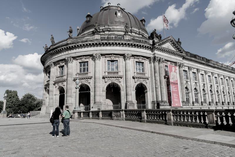 Bode博物馆,柏林巴洛克式的建筑外部  库存图片