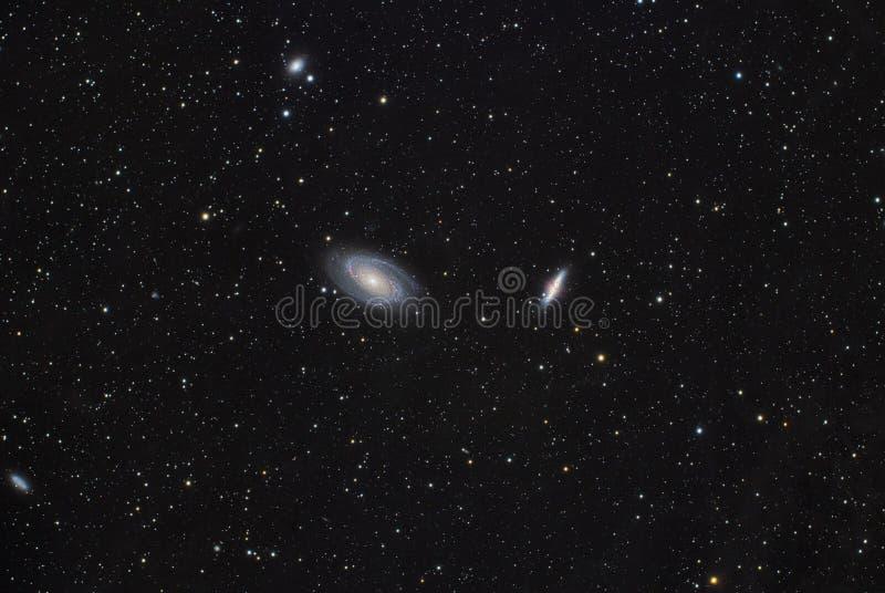Bode galaktyka M81 i M82 obraz stock