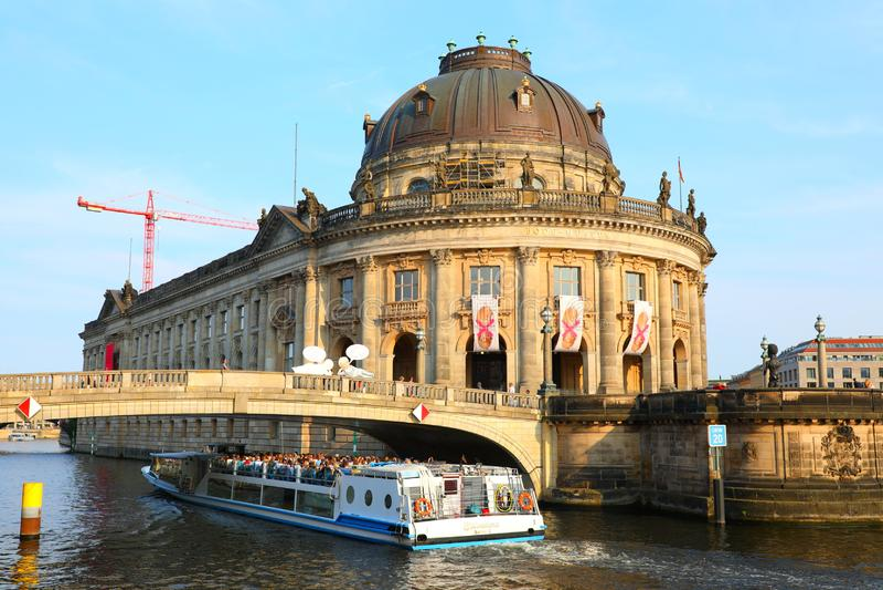 Bode Museum on Museum Island in Spree River, Berlin, Germany Deutschland stock photos