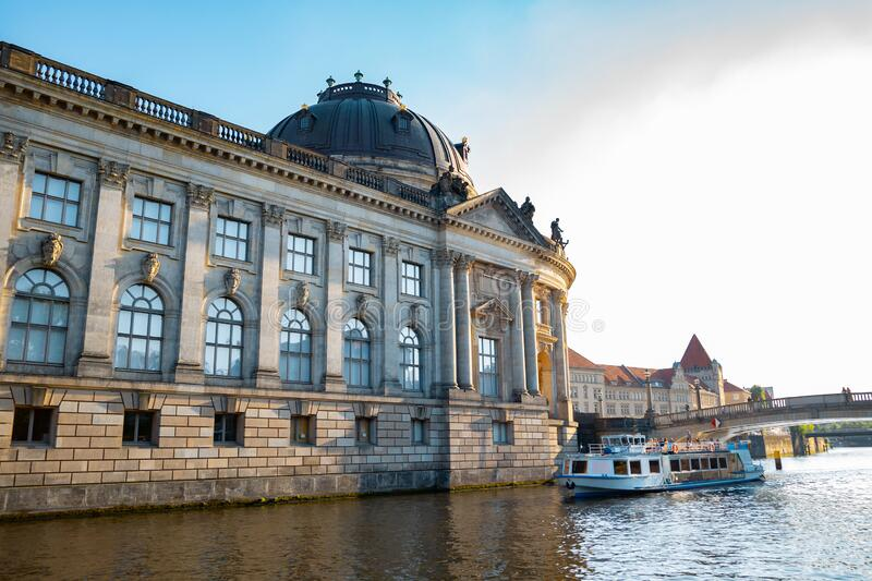 Bode-Museum with Spree River in Berlin, Germany. Europe royalty free stock photo