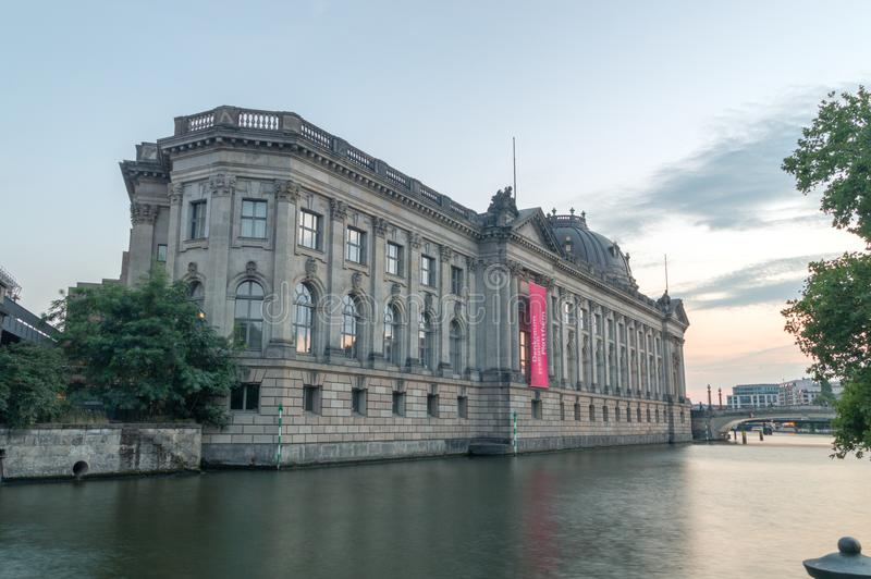 Bode Museum on Spree river. stock photography