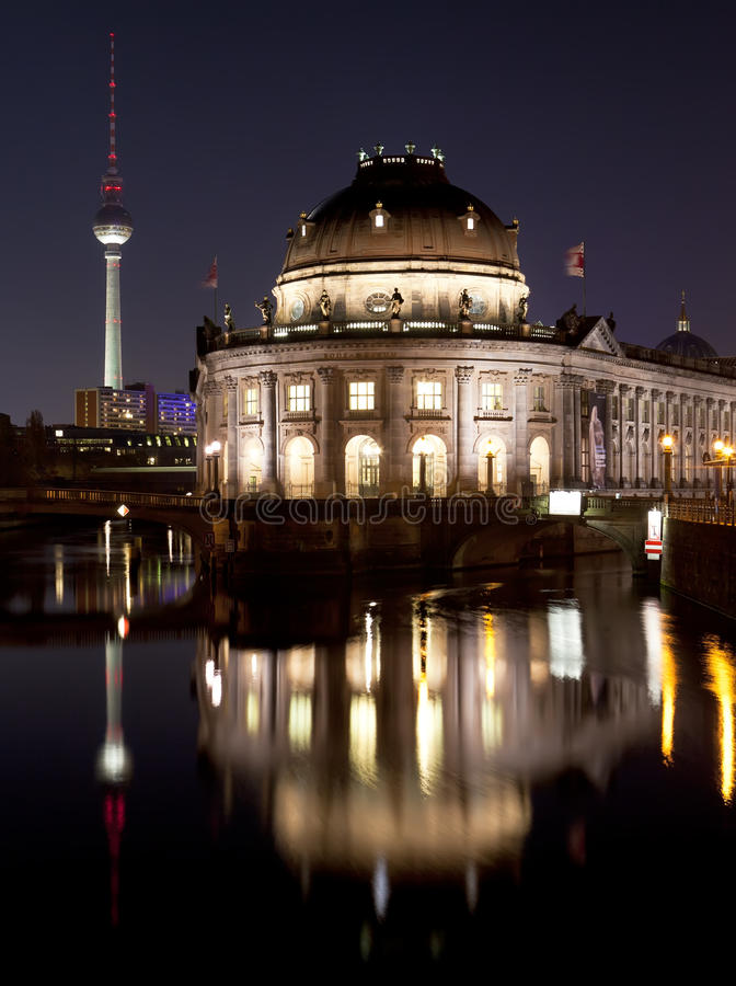 Download Bode Museum With TV Tower, Night Shot, Berlin Stock Photo - Image: 27485098