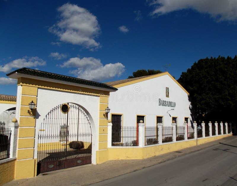 Bodega Barbadillo Manzanilla, Sanlucar de Barrameda, Spanien stockfotografie